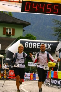 Mål efter sidste etape af Gore-Tex Transalpine-Run 2011 er i Latsch