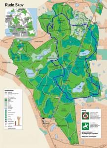 Blå rute i Rude Skov