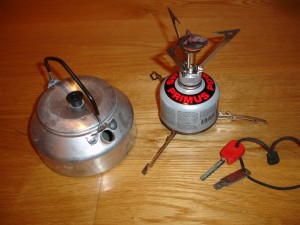 MSR Pocket Rocket brænder, kedel og ildstål